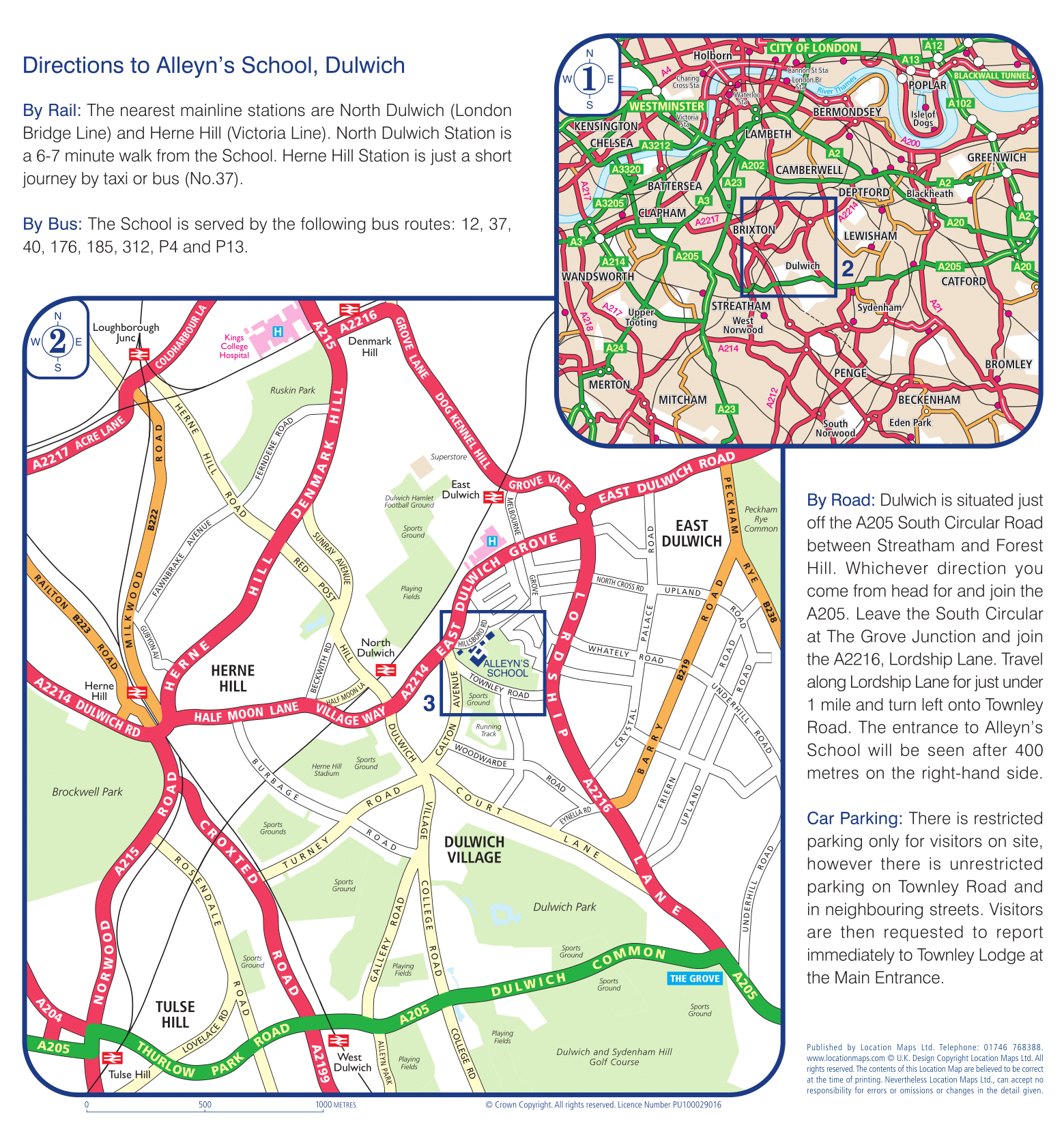 Alleyn's School Maps